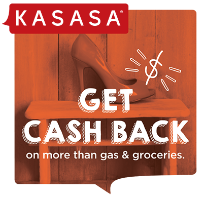 "Kasasa Cash Back image with text ""get cash back on more than gas & groceries"
